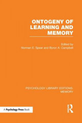 Omslag - Ontogeny of Learning and Memory