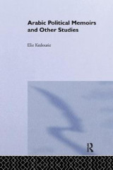 Omslag - Arabic Political Memoirs and Other Studies