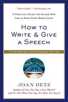 How to Write & Give a Speech av Joan Detz (Heftet)