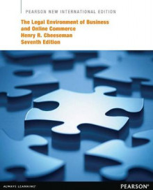 The Legal Environment of Business and Online Commerce: Pearson New International Edition av Henry R. Cheeseman (Heftet)