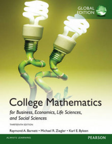 College Mathematics for Business, Economics, Life Sciences and Social Sciences with My Math Lab, Global Edition av Raymond A. Barnett, Michael R. Ziegler og Karl E. Byleen (Blandet mediaprodukt)