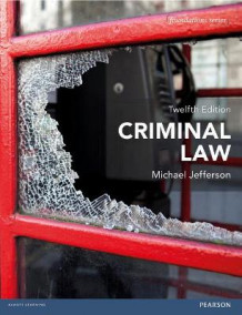 Criminal Law av Michael Jefferson (Heftet)