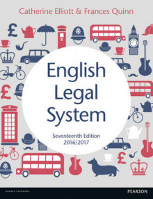 English Legal System 2016-17 av Catherine Elliott og Frances Quinn (Heftet)