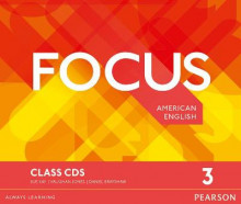Focus AmE 3 Class CDs av Vaughan Jones, Sue Kay og Daniel Brayshaw (Lydbok-CD)