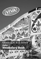 Omslag - Viva! Edexcel GCSE Spanish Higher Vocab Book (pack of 8)