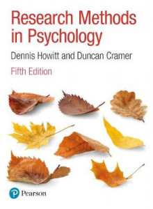 Research Methods in Psychology av Dennis Howitt og Duncan Cramer (Heftet)