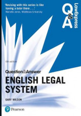 Omslag - Law Express Question and Answer: English Legal System