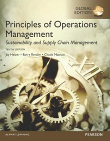 Principles of Operations Management: Sustainability and Supply Chain Management av Jay Heizer, Barry Render og Chuck Munson (Heftet)