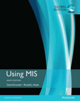 Omslag - Using MIS plus MyMISLab with Pearson eText, Global Edition