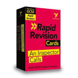 Omslag - York Notes for AQA GCSE (9-1) Rapid Revision: An Inspector Calls Cards - Refresh, Revise and Catch up!