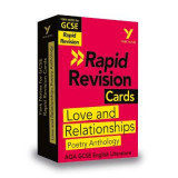 Omslag - York Notes for AQA GCSE (9-1) Rapid Revision Cards: Love and Relationships AQA Poetry Anthology