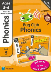 Phonics - Learn at Home Pack 5 (Bug Club), Phonics Sets 13-26 for ages 5-6 (Six stories + Parent Guide + Activity Book) av Alison Hawes, Rhona Johnston, Emma Lynch, Paul Shipton, Vicky Shipton, Joyce Watson og Jeanne Willis (Blandet mediaprodukt)