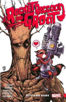Rocket Raccoon & Groot Vol. 0: Bite and Bark av Brian Michael Bendis, Skottie Young og Jeff Loveness (Heftet)