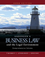 Omslag - Andersona's Business Law and the Legal Environment: Comprehensive Volume
