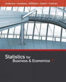 Statistics for Business & Economics (with XLSTAT Education Edition Printed Access Card) av James Cochran, David Anderson, Dennis Sweeney, Jeffrey D. Camm og Thomas Williams (Innbundet)