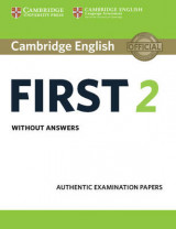 Omslag - Cambridge English First 2 Student's Book Without Answers