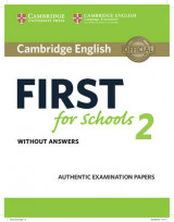 Omslag - Cambridge English First for Schools 2 Student's Book Without Answers: 2