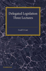 Omslag - Delegated Legislation