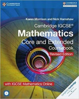 Omslag - Cambridge IGCSE Mathematics Core and Extended Coursebook with CD-ROM and IGCSE Mathematics Online Revised Edition