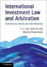 Omslag - International Investment Law and Arbitration