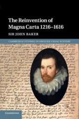 Omslag - The Reinvention of Magna Carta 1216-1616