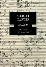 Omslag - Elliott Carter Studies