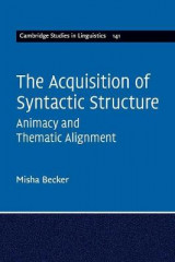 Omslag - The Acquisition of Syntactic Structure
