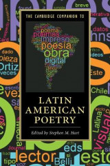 Omslag - The Cambridge Companion to Latin American Poetry