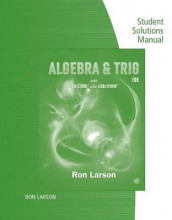 Study Guide with Student Solutions Manual for Larson's Algebra & Trigonometry, 10th av Ron Larson (Heftet)