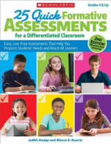 Omslag - 25 Quick Formative Assessments for a Differentiated Classroom, 2nd Edition