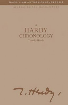 A Hardy Chronology 1992 av Timothy Hands (Heftet)