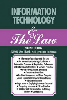 Information Technology & the Law 1990 av Ian Walden, Nigel Savage og Chris Edwards (Heftet)