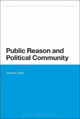 Omslag - Public Reason and Political Community