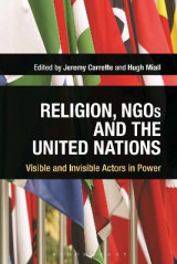 Omslag - Religion, NGOs and the United Nations