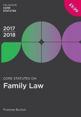 Omslag - Core Statutes on Family Law 2017-18