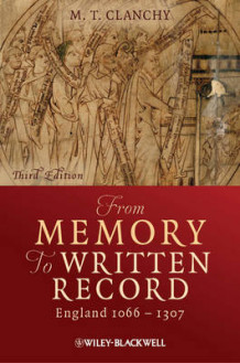 From Memory to Written Record av Michael T. Clanchy (Heftet)