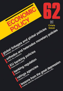 Economic Policy: Financial Crisis Issue No. 62 (Heftet)