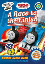 Omslag - Thomas & Friends: A Race to the Finish (Sticker Scene Book)