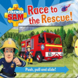 Omslag - Fireman Sam: Race to the Rescue! Push, Pull and Slide