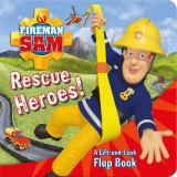 Omslag - Fireman Sam Rescue Heroes! A Lift-and-Look Flap Book