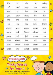 Fridge Magnets Tricky Words for Year 1 av Scholastic (Undervisningskort)