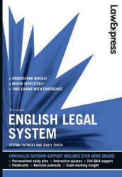 Law Express: English Legal System (Revision Guide) av Stefan Fafinski og Emily Finch (Heftet)