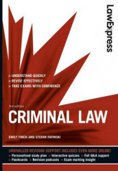 Law Express: Criminal Law (Revision Guide) av Stefan Fafinski og Emily Finch (Heftet)