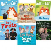 Learn to Read at Home with Bug Club: Red Pack (Pack of 6 reading books with 4 fiction and 2 non-fiction) av Greg Cook, Kate McGough, Diana Noonan og Jeanne Willis (Blandet mediaprodukt)