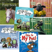 Learn to Read at Home with Bug Club: Yellow Pack featuring Shaun the Sheep (Pack of 6 reading books with 4 fiction and 2 non-fiction) av Helen Chapman, Monica Hughes, Dawn McMillan og Sheryl Webster (Heftet)