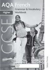 Omslag - AQA GCSE French Higher Grammar and Vocabulary Workbook Pack (X8)