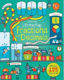 Lift-The-Flap Fractions and Decimals av Rosie Dickins (Kartonert)