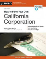 Omslag - How to Form Your Own California Corporation