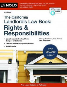 The California Landlord's Law Book: Rights & Responsibilities av David Brown, Janet Portman og Nils Rosenquest (Heftet)