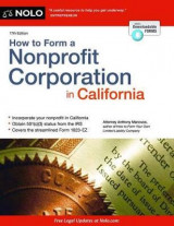 Omslag - How to Form a Nonprofit Corporation in California
